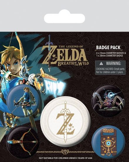 The Legend of Zelda Breath of the Wild Emblem Badge Pack